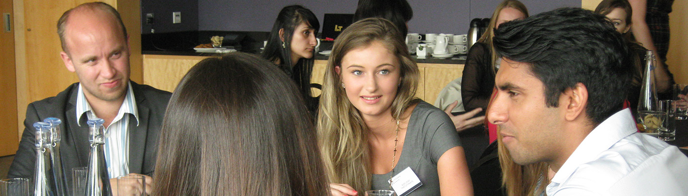 Pathways students networking