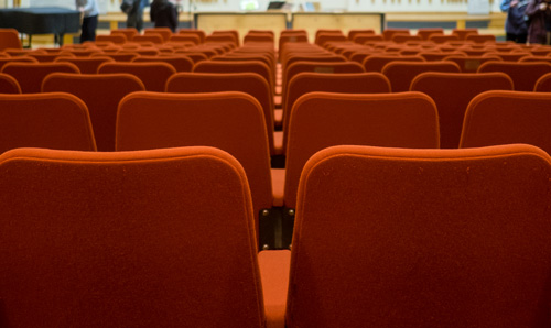 chairs in empty lecture hall