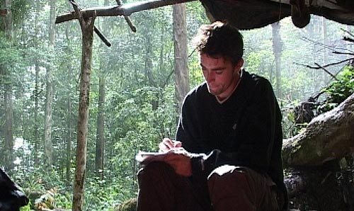A postgraduate social anthropology student in the field
