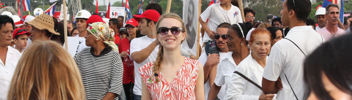 Mercedes Antrobus a Social Anthropology student in Cuba